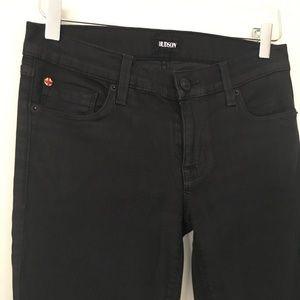 Hudson Black Krista Ankle Super Skinny Jeans